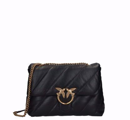 pinko Big Love Bag Puff Maxi Quilt Classic black gold