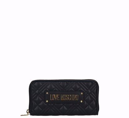 Love Moschino portafogli donna Quilted Nappa nero, Love Moschino woman wallet Quilted Nappa black