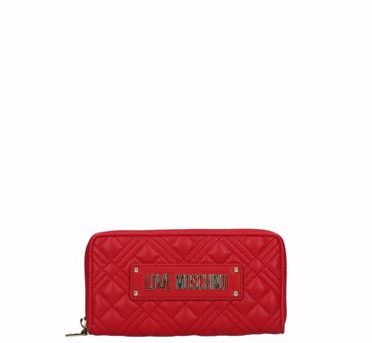 Love Moschino woman wallet Quilted Nappa red, Love Moschino portafogli donna Quilted Nappa rosso