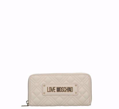 Love Moschino portafogli donna Quilted Nappa ivory,Love Moschino woman wallet Quilted Nappa ivory