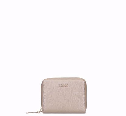 Liu Jo woman wallet mini Brava light gold