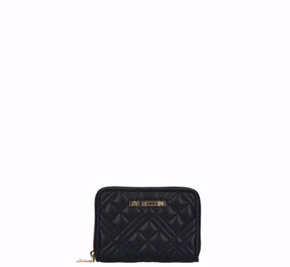 Love Moschino portafogli donna mini Quilted Nappa nero, Liu Jo woman wallet Quilted Nappa black