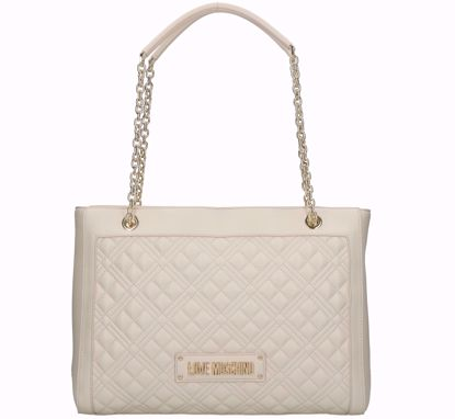 Love Moschino shopping bag M Quilted Nappa ivory