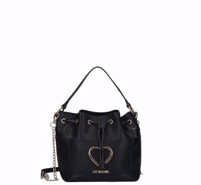 Love Moschino bucket bag Grained black