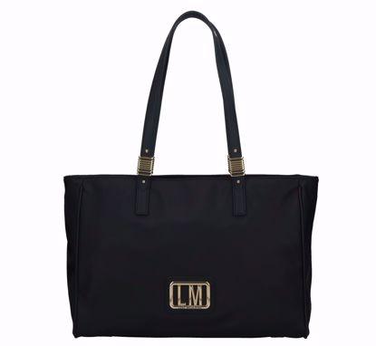 Love Moschino shopping bag LM Plaque black