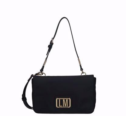 Love Moschino crossbody bag LM Plaque black