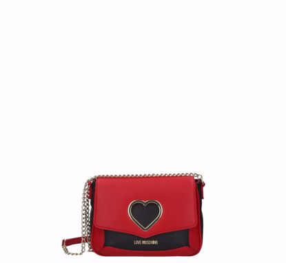 Love Moschino crossbody bag Grained red black