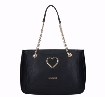 Love Moschino shopping bag Grained black