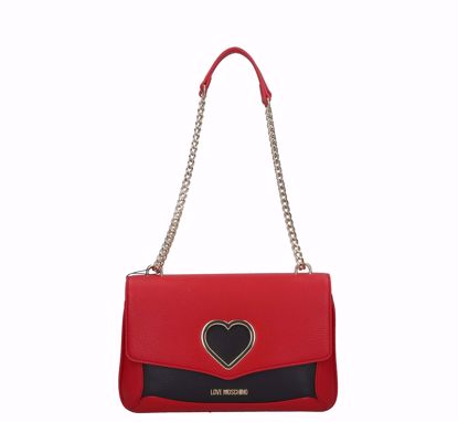 Love Moschino bag Grained red black