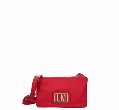 Love Moschino crossbody bag S LM Plaque red