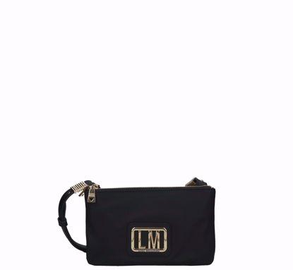Love Moschino crossbody bag S LM Plaque black