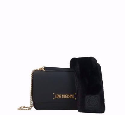 Love Moschino bag Furry Scarf black