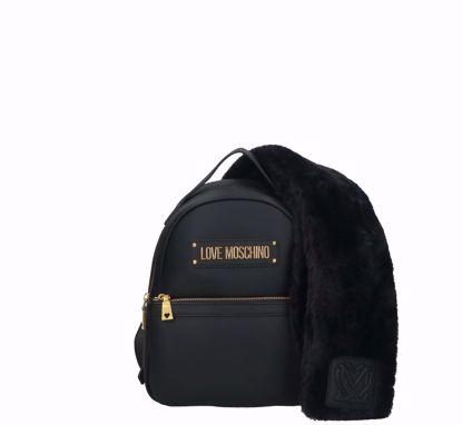 Love Moschino backpack Furry Scarf black
