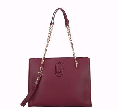 Liu Jo shopping bag Immensa ruby wine