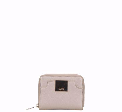 Liu Jo woman wallet mini Interessante light gold