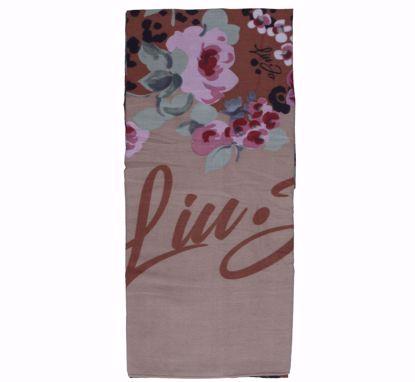 Liu Jo scarf Macula 70x180 macadamia