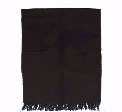 Alviero Martini scarf 40x200 Geo Pieno  dark brown