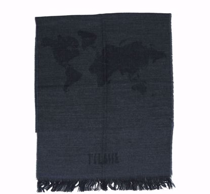 Alviero Martini scarf 40x200 Geo Pieno  lead grey