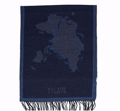 Alviero Martini scarf 40x200 Geo Filetti dark blue