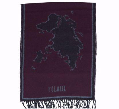 Alviero Martini scarf 40x200 Geo Filetti merlot red