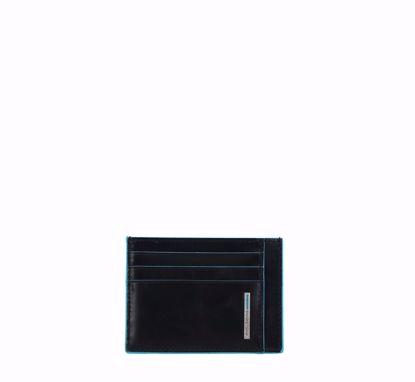 Piquadro credit card holder Blue Square black