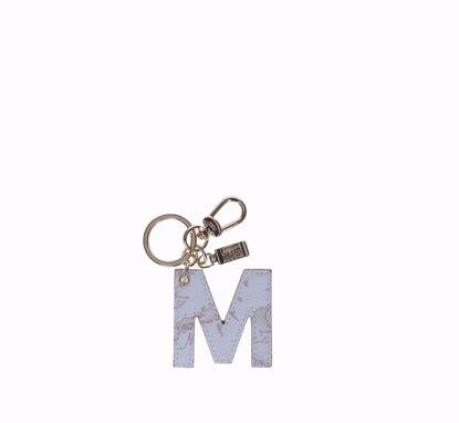 Alviero Martini keys holder letter M Geo White