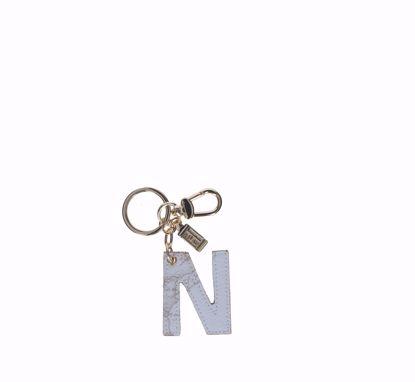 Alviero Martini keys holder letter N Geo White