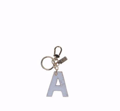 Alviero Martini keys holder letter A Geo White