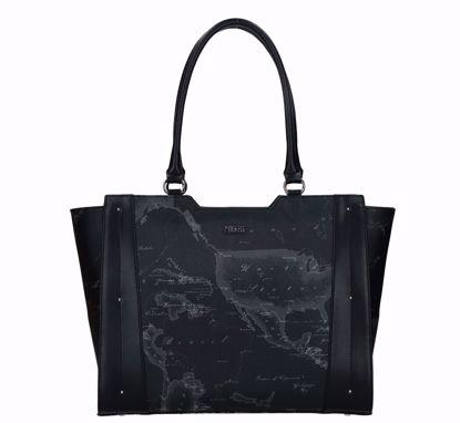 Alviero Martini shopping bag Geo Night Moonrise black