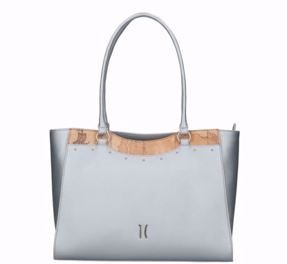 Alviero Martini shopping bag Precious City silver