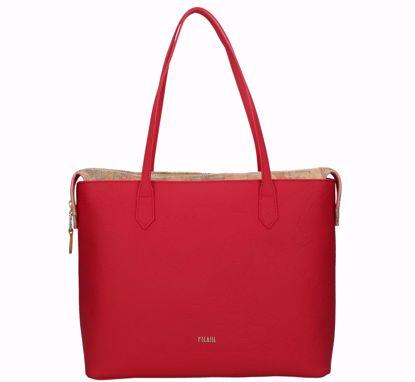 Alviero Martini shopping bag Festive Map scarlet red