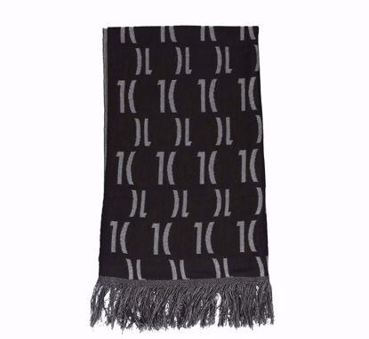 Alviero Martini scarf 56x190 Lurex Logo 1C ebony